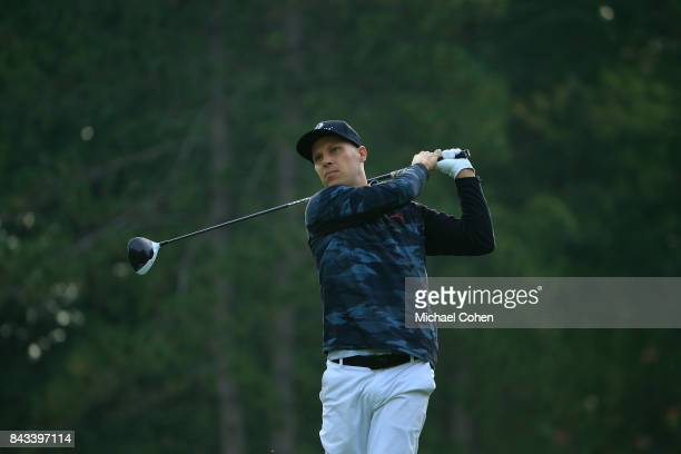 Ben Crane hits a drive during the first round of the Nationwide Children's Hospital Championship held at The Ohio State University Golf Club on...