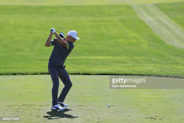 Ben Crane of the United States plays his shot from the tenth tee during the second round of The Honda Classic at PGA National Resort and Spa on...
