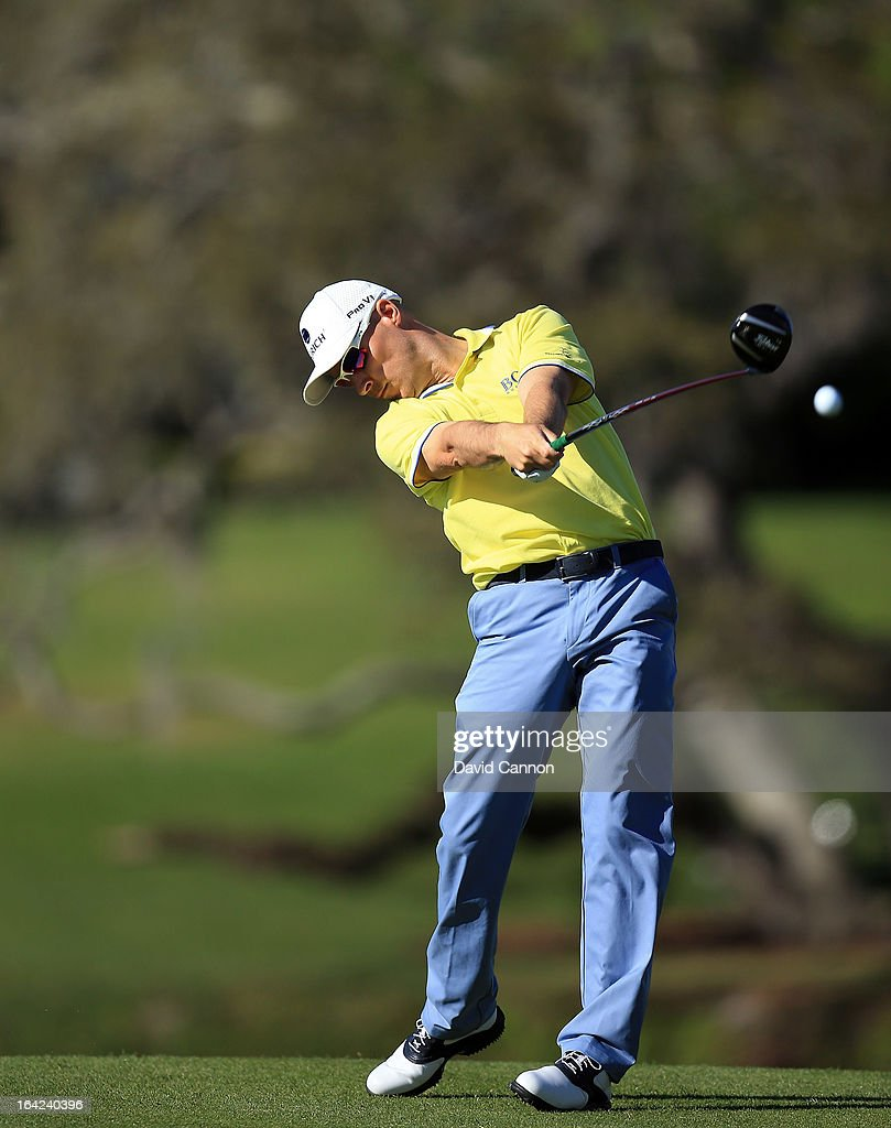 Ben Crane of the United States plays his tee shot at the par 5, 16th hole during the first round of the 2013 Arnold Palmer Invitational Presented by Mastercard at Bay Hill Golf and Country Club on March 21, 2013 in Orlando, Florida.