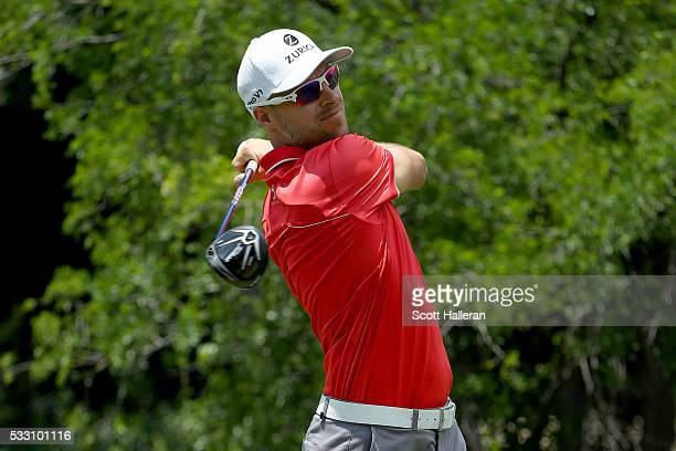 Ben Crane plays his shot from the 12th tee during Round Two at the ATT Byron Nelson on May 20 2016 in Irving Texas