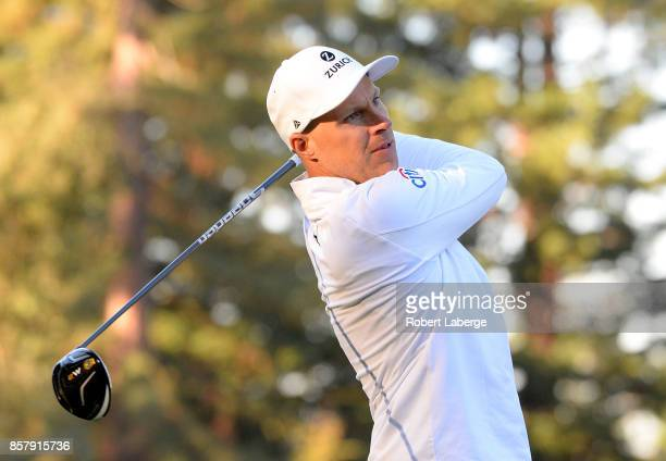 Ben Crane plays his shot from the 12th tee during the first round of the Safeway Open at the North Course of the Silverado Resort and Spa on October...