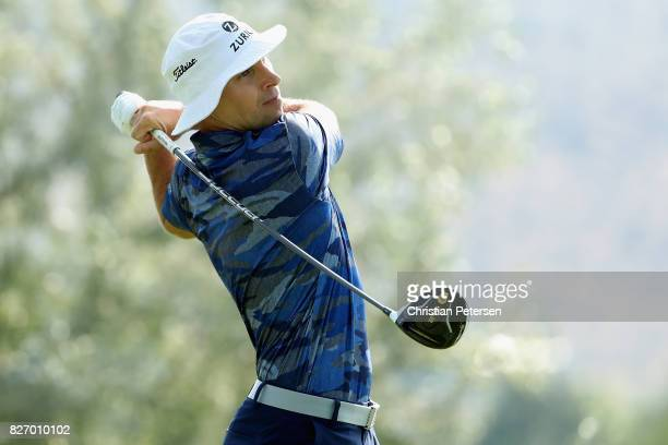 Ben Crane plays his shot from the second tee during the final round of the Barracuda Championship at Montreux Country Club on August 6 2017 in Reno...
