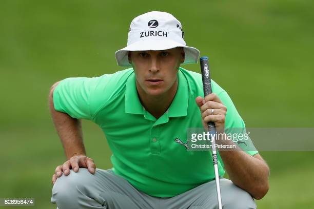 Ben Crane putts on the 18th green during the third round of the Barracuda Championship at Montreux Country Club on August 5 2017 in Reno Nevada