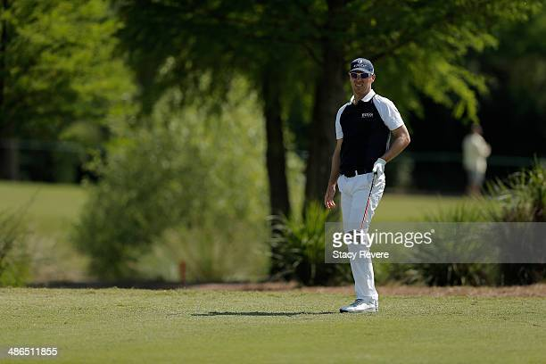 Ben Crane takes his shot on the 7th during Round One of the Zurich Classic of New Orleans at TPC Louisiana on April 24 2014 in Avondale Louisiana