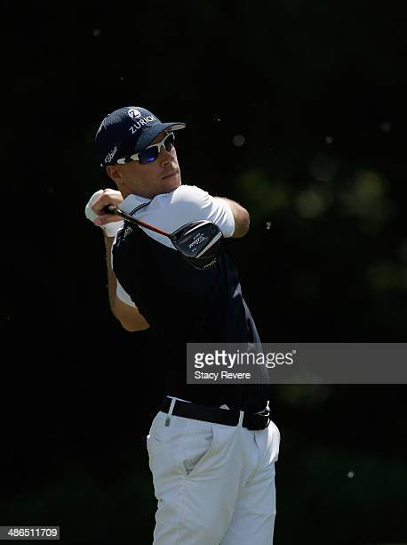 Ben Crane tees off on the 5th during Round One of the Zurich Classic of New Orleans at TPC Louisiana on April 24 2014 in Avondale Louisiana