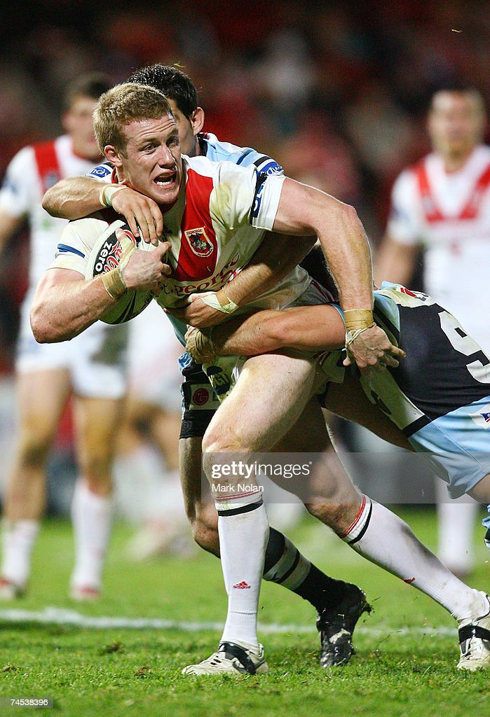 Ben Creagh of the Dragons in action during the round 13 NRL match between the St George Illawarra Dragons and the Cronulla Sharks at OKI Jubilee Stadium June 11, 2007 in Sydney, Australia.