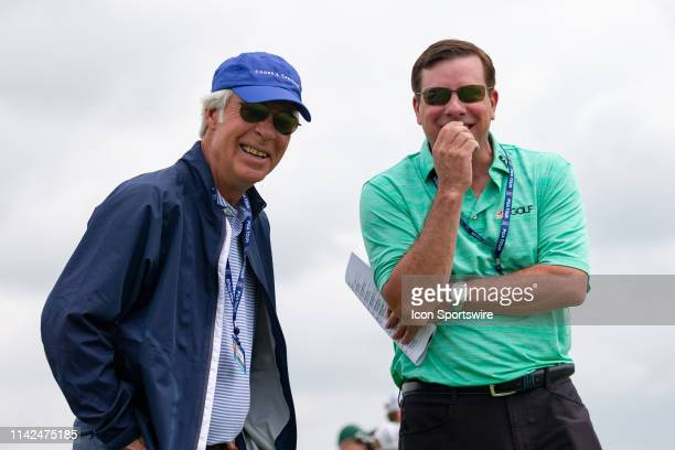 Ben Crenshaw smiles for the camera during the first round of the ATT Byron Nelson on May 9 2019 at Trinity Forest Golf Club in Dallas TX
