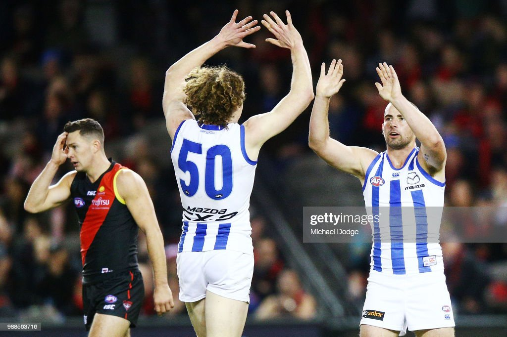 AFL Rd 15 - Essendon v North Melbourne : News Photo