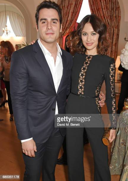 Ben Cura and Olga Kurylenko attend The 9th Annual Filmmakers Dinner hosted by Charles Finch and JaegerLeCoultre at Hotel du CapEdenRoc on May 19 2017...
