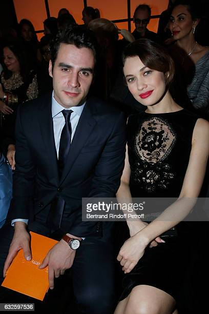 Ben Cura and Olga Kurylenko attend the Giorgio Armani Prive Haute Couture Spring Summer 2017 show as part of Paris Fashion Week on January 24 2017 in...
