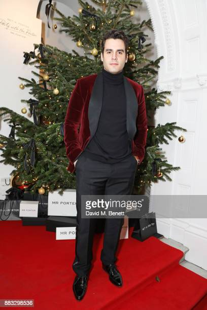 Ben Cura attends a party hosted by NETAPORTER and MR PORTER to celebrate the festive season in style at One Horse Guards on November 30 2017 in...