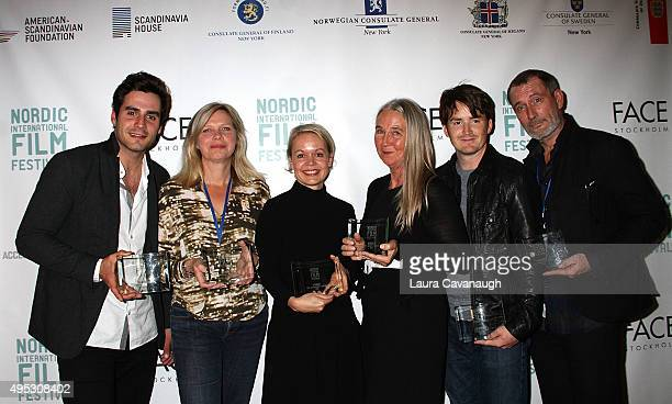 Ben Cura Nille Leander Frida Kempff Helene Mohlin Ryan Caraway and Heikko Deutschmann attend the 1st Nordic International Film Festival Gala at...