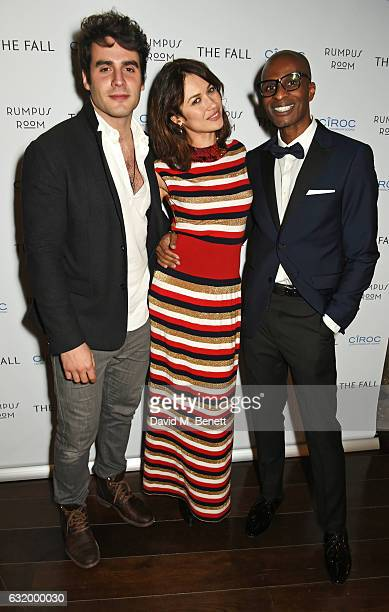 Ben Cura Olga Kurylenko and Andre Howard Gayle attend The Fall Magazine launch party in the Rumpus Room at Mondrian London on January 18 2017 in...