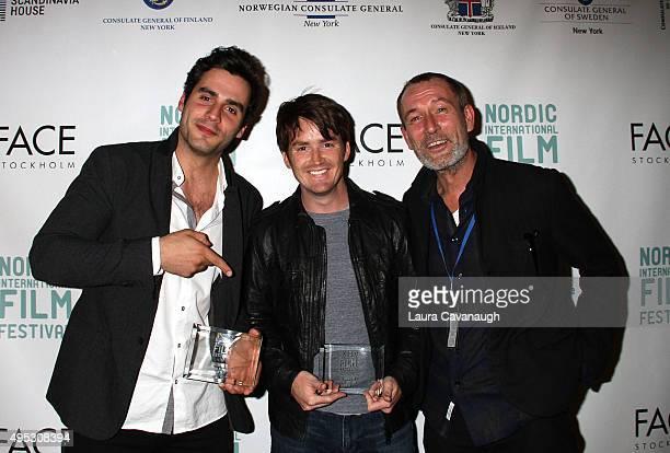 Ben Cura Ryan Caraway and Heikko Deutschmann attend the 1st Nordic International Film Festival Gala at Scandinavia House on November 1 2015 in New...