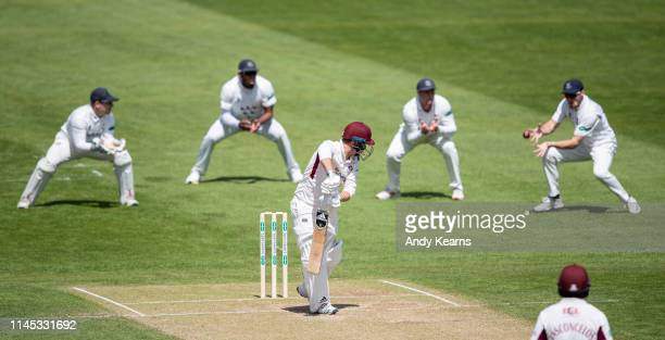 Ben Curran of Northamptonshire is caught by Phil Salt of Sussex during the Specsavers County Championship Division Two match between Northamptonshire...