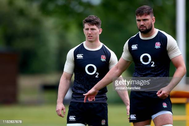Ben Curry of England during the England Media Access at The Lensbury on May 31 2019 in Teddington England