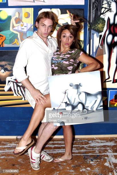 Ben Curtis and JillMichele Melean during Name That Painting at Kostabi World July 7 2006 at JillMichele Melean Taylor Mead Walter Robinson Ben Curtis...