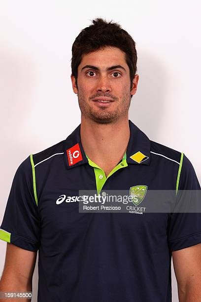 Ben Cutting poses during the official Australian One Day International cricket team headshots session on January 9 2013 in Melbourne Australia