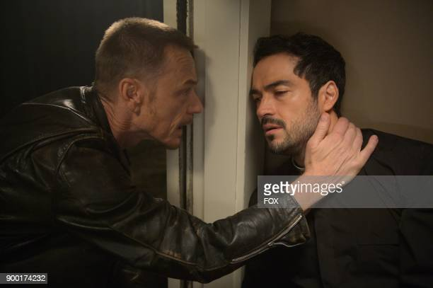 Ben Daniels and Alfonso Herrera in the season finale 'Unworthy' episode of THE EXORCIST airing Friday Dec 15 on FOX