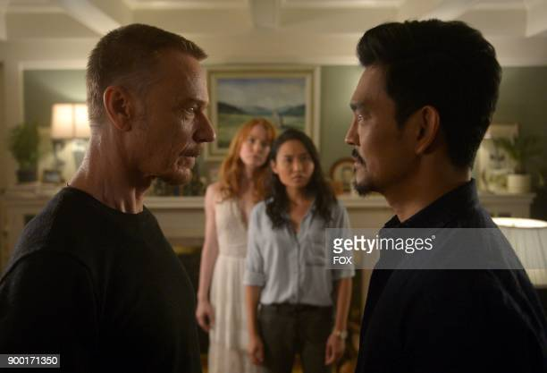 Ben Daniels guest star Alicia Witt Li Jun Li and John Cho in the 'Darling Nikki' episode of THE EXORCIST airing Friday Nov 10 on FOX