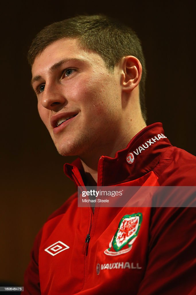 Ben Davies during the Wales press conference at St David's Hotel on February 4, 2013 in Cardiff, Wales.