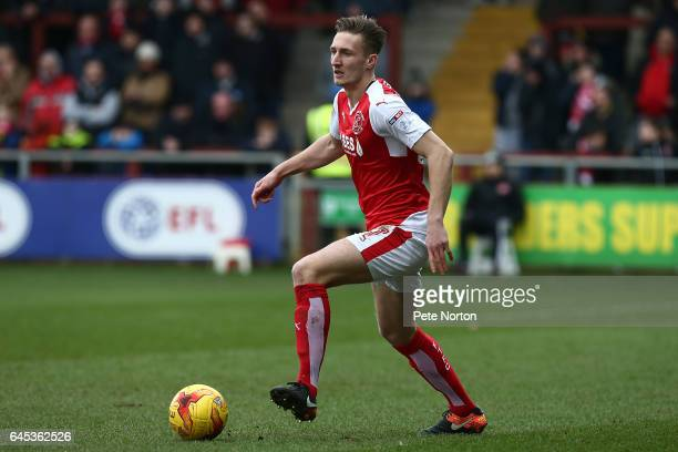 Ben Davies of Fleetwood Town in action during the Sky Bet League One match between Fleetwood Town and Northampton Town at Highbury Stadium on...