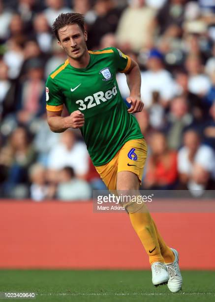 Ben Davies of Preston North End during the Sky Bet Championship match between Derby County and Preston North End at Pride Park Stadium on August 25...