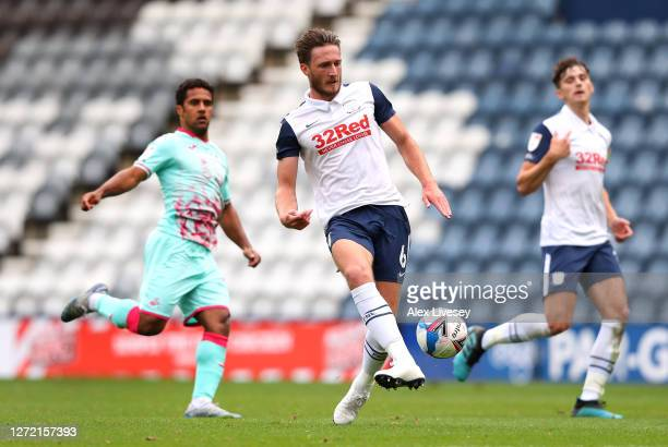 Ben Davies of Preston North End during the Sky Bet Championship match between Preston North End and Swansea City at Deepdale on September 12 2020 in...