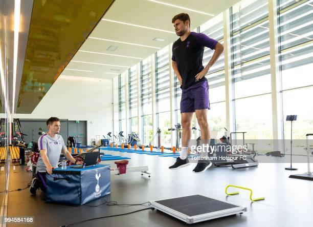 Ben Davies of Tottenham Hotspur during pre season training at Tottenham Hotspur Training Centre on July 9 2018 in Enfield England