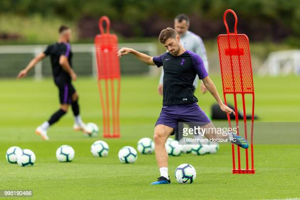 Ben Davies of Tottenham Hotspur during pre season training at Tottenham Hotspur Training Centre on July 10 2018 in Enfield England