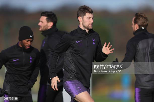 Ben Davies of Tottenham Hotspur during the Tottenham Hotspur training session at Tottenham Hotspur Training Centre on November 30 2018 in Enfield...