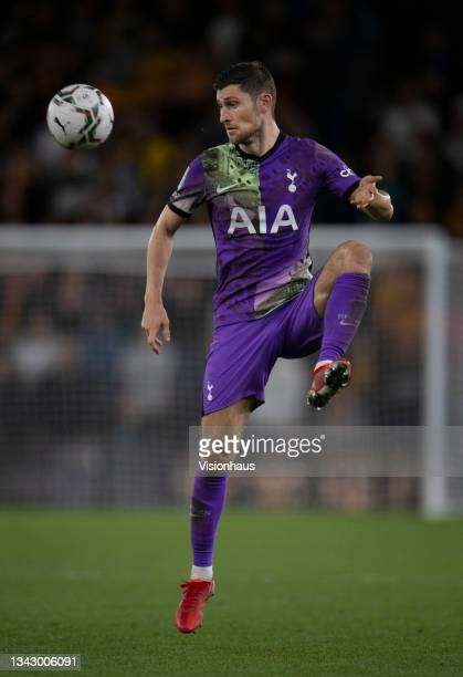 Ben Davies of Tottenham Hotspur in action during the Carabao Cup Third Round match between Wolverhampton Wanderers and Tottenham Hotspur at Molineux...