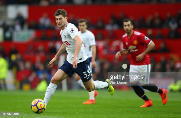Ben Davies of Tottenham Hotspur in action during the Premier League match between Manchester United and Tottenham Hotspur at Old Trafford on October...