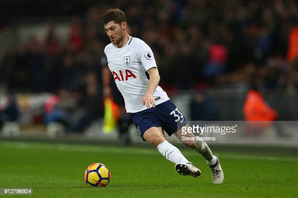 Ben Davies of Tottenham Hotspur in action during the Premier League match between Tottenham Hotspur and Manchester United at Wembley Stadium on...