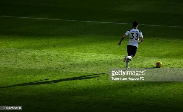 Ben Davies of Tottenham in action during the Premier League match between Tottenham Hotspur and Leeds United at Tottenham Hotspur Stadium on January...