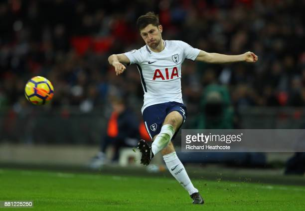 Ben Davies of Tottenham in action during the Premier League match between Tottenham Hotspur and West Bromwich Albion at Wembley Stadium on November...