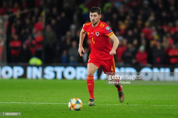 Ben Davies of Wales in action during the UEFA Euro 2020 Group E Qualifier match between Wales and Hungary at the Cardiff City Stadium on November 19,...