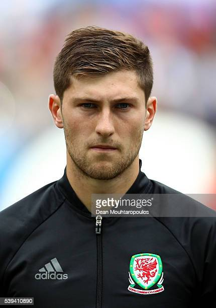 Ben Davies of Wales is seen prior to the UEFA EURO 2016 Group B match between Wales and Slovakia at Stade Matmut Atlantique on June 11 2016 in...