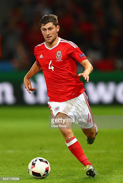 Ben Davies of Wales of Wales in action during the UEFA EURO 2016 quarter final match between Wales and Belgium at Stade PierreMauroy on July 1 2016...