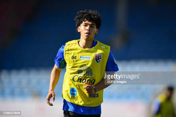 Ben Davis of Thailand U-23 seen during a training session prior to the AFC U-23 Championship 2022 qualifying round in Mongolia on 21-31 October.