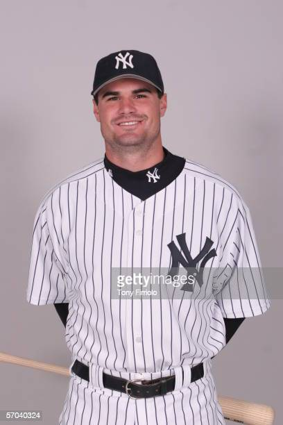 Ben Davis of the New York Yankees during photo day at Legends Field on February 24 2006 in Tampa Florida