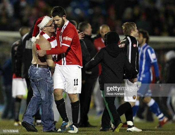 Ben Deegan of FC United after the FA Cup sponsored by EON 2nd Round Replay between FC United of Manchester and Brighton Hove Albion at Gigg Lane on...
