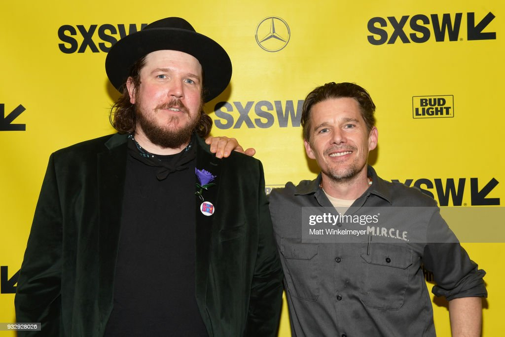 Ben Dickey and Ethan Hawke attend the 'Blaze' Prmeiere 2018 SXSW Conference and Festivals at Paramount Theatre on March 16, 2018 in Austin, Texas.