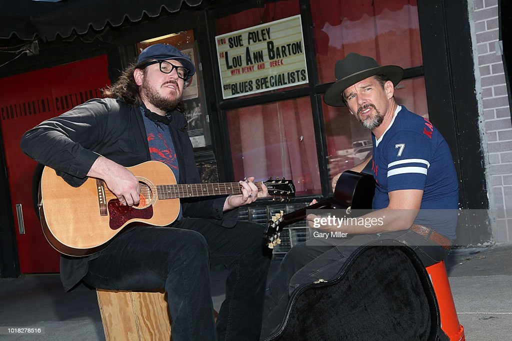 "Ethan Hawke And Ben Dickey Perform In Front Of Continental Club To Promote ""Blaze"""