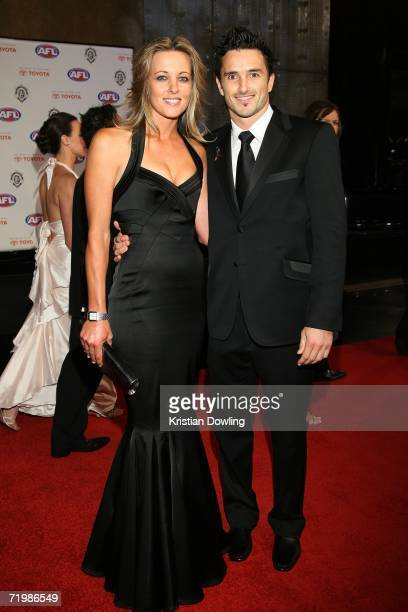 Ben Dixon of the Hawthorn Hawks and partner Kristie Newton arrive for the 2006 AFL Brownlow Medal Dinner at Crown Casino September 25, 2006 in...