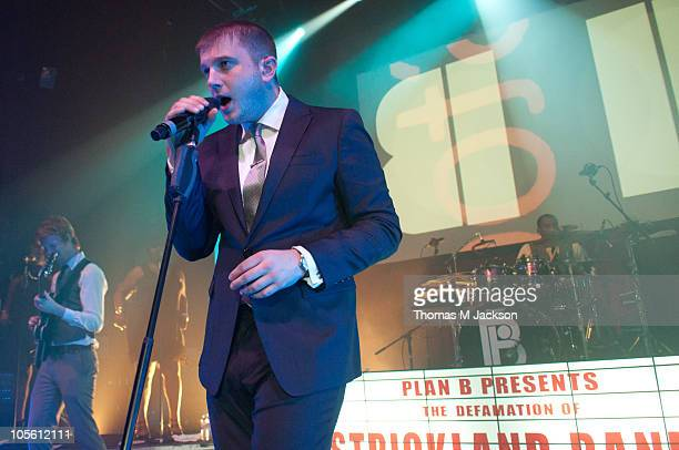 Ben Drew aka Plan B performs on stage at O2 Academy on October 16, 2010 in Newcastle upon Tyne, England.