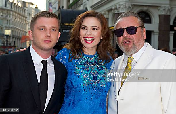 Ben Drew, Hayley Atwell and Ray Winstone attend the UK Film Premiere of 'The Sweeney' at Vue Leicester Square on September 3, 2012 in London, England.
