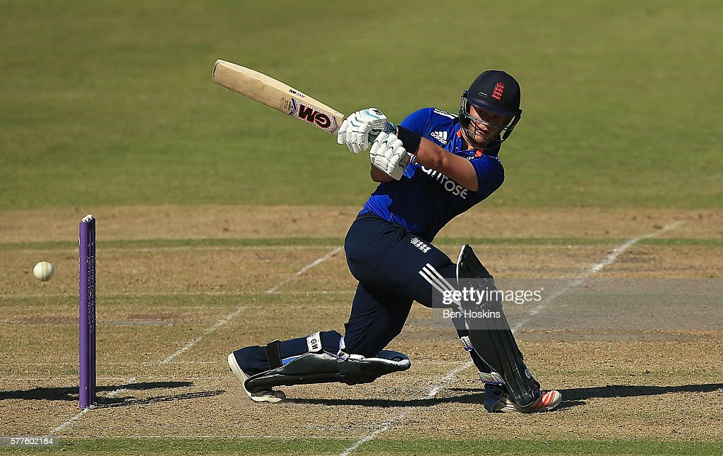 Ben Duckett of England in action during the Triangular Series match between England Lions and Pakistan A on July 19, 2016 in Cheltenham, England.