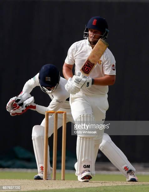 Ben Duckett of MCC bats during day one of the Champion County match between Marylebone Cricket Club and Middlesex at Sheikh Zayed stadium on March 26...