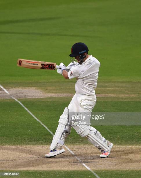Ben Duckett of MCC bats during day two of the Champion County match between Marylebone Cricket Club and Middlesex at Sheikh Zayed stadium on March 27...